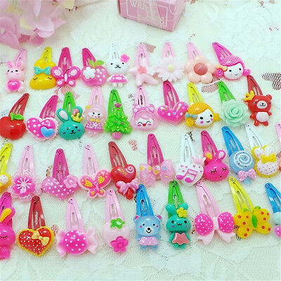 20pcs Baby Kids Mixed Heart Bow Cartoon HairPin Hair Clip Jewelry Gift For Girls