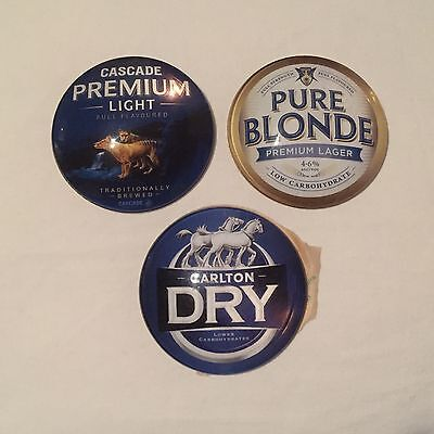 Carlton Dry Cascade Light And Pure Blonde Dome Style Beer Tap Badge, Decal, Top