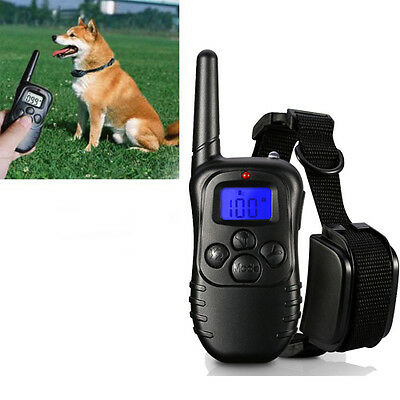 4 in 1 Remote Dog Training Shock Vibrate Collar Trainer Safe 250 m UK STOCK New