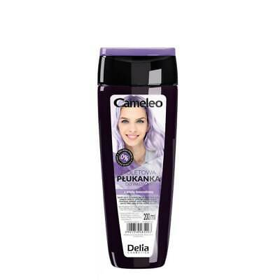 DELIA CAMELEO NO YELLOW COLOUR HAIR RINSE Purple 0% Yellowing Effect 200ml