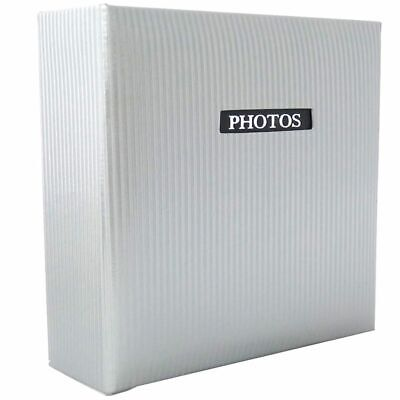 Elegance White 7x5 Slip In Photo Album - 200 Photos