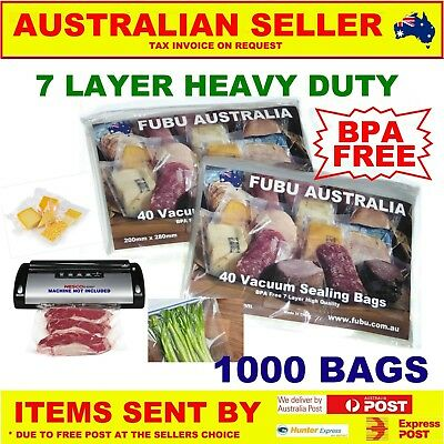 Vacuum Food Sealer Bags X 1000 , Roll Storage Seal Saver  Commercial Or Home Use
