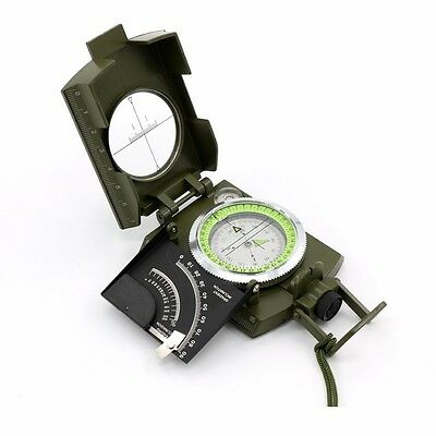 Professional Military Army Metal Sighting Compass Clinometer Camping Hiking UK