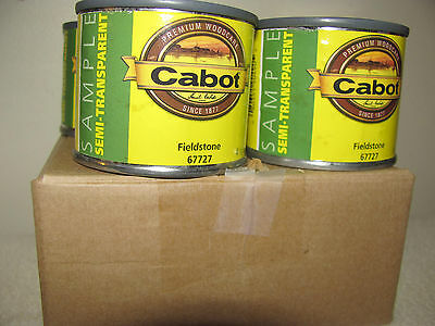 Cabot sample 4 pack of 4 ounce cans semi-transparent water based stain