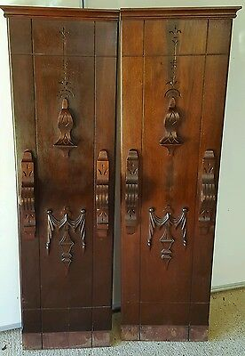 Antique Architectural  Columns/Posts Walnut Accent Pieces