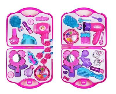 Kids Pretend Play Hair Dryer Makeup Toy Set Doctor Set With Carry Bag Beauty