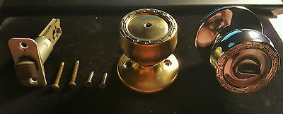 Vintage Kwikset Door Knobs Grecian Pattern--Bathroom/bedroom--Beautiful