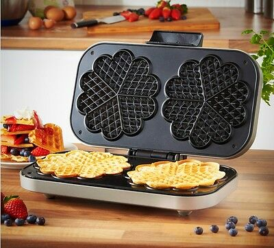 Double Waffle Maker Non-Stick Easy to Clean 1100-1300W