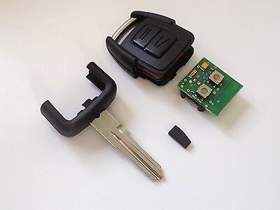 Refurbished Vauxhall Astra / Van Etc 2 Button Key Fob + New Case, Blade & Chip