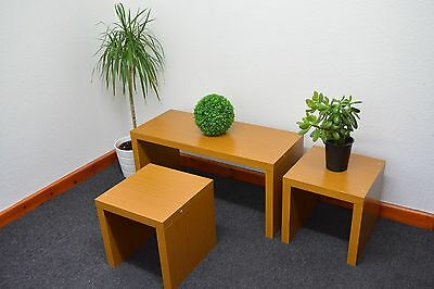 Nest Coffee Table Living Room And Side Lamp Set Of 3 NEW