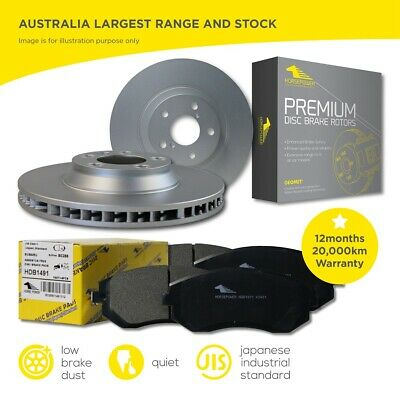 Front Brake Pads and Disc Rotors Set for Holden COLORADO RG DX 2012-2018