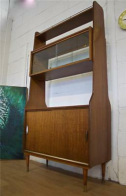 DELIVERY £60 Mid Century Retro Danish Style Teak Room Divider Bookcase Unit