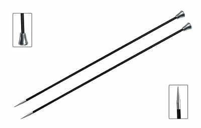 KNITPRO Karbonz Straight Single Pointed Needles 25 or 35 cm long 2 - 6 mm