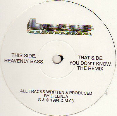 """Dillinja – You Don't Know (The Remix) / Heavenly Bass 12"""" LOGIC PRODUCTIONS"""