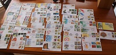 1984-91 PNG PAPUA NEW GUINEA FDC COLL x56 DIFFERENT COVERS BIRD OF PARADISE,SHIP