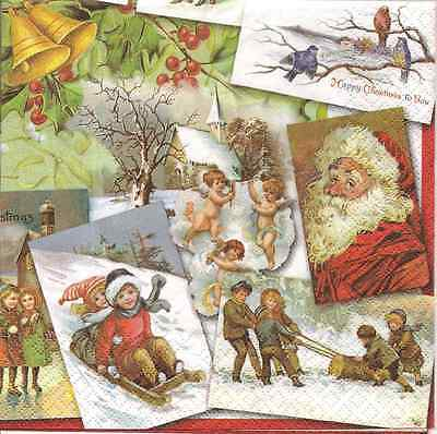 4 Single Paper Napkins for Decoupage Nutcracker Trio Cream