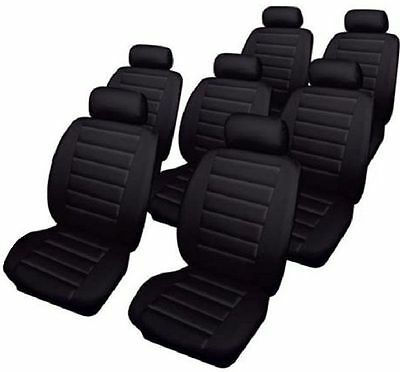 Car Seat Covers Set for Seat Alhambra (2000-2010) Black Leatherlook Cosmos