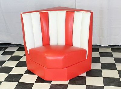 American Diner Furniture 50s Style Retro Corner Booth Red