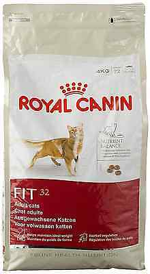 Royal Canin Cat Food Fit 32 Dry Mix 4kg Nutritional Balance Hairball Regulation