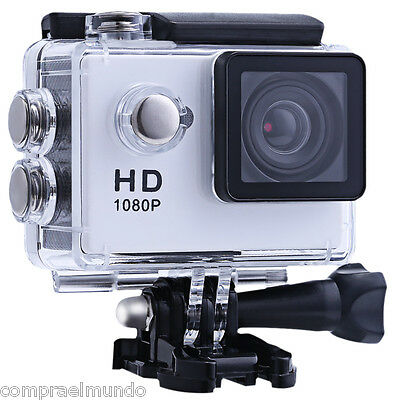 Mini HD 1080P SJ6000 Waterproof Sports Cam Action Full Video DVR Camera White
