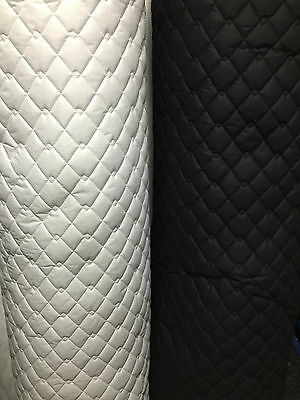 QUILTED FABRIC Polycotton Double Diamond Stitch 4 cols Dress Soft Jackets 150cm
