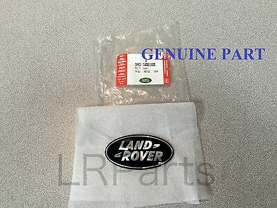 Land Rover Range Rover L322 03-06 Black On Silver Grille Badge Genuine Dag500160