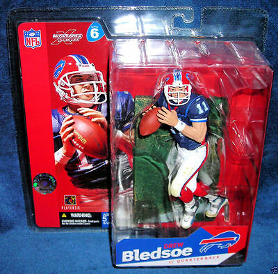 McFarlane NFL Football Series 6 Drew Bledsoe Buffalo Bills Figur NEU OVP