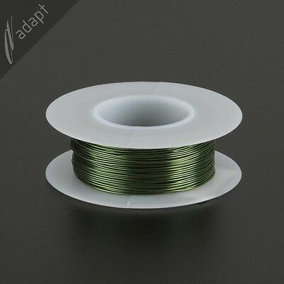 24 AWG Gauge Magnet Wire Green 50' 155C Solderable Enameled Copper Coil Winding