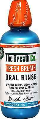 The Breath Co Fresh Breath Oral Rinse 500-ml Icy Mint Dentist Recommended New