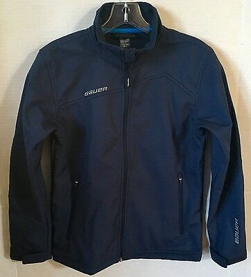 Bauer Team Softshell Jacket - Youth - Small - Navy