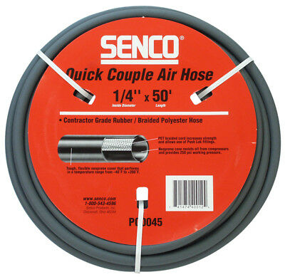 "SENCO PC0045 1/4"" x 50' Gray Air Hose without Fittings"