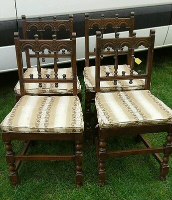Set of 4 vintage Ercol colonial chairs