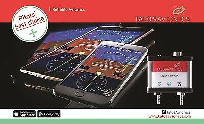 Aeolus Sense 3B from Talos Avionics ADAHRS for Apple and Android devices WiFi