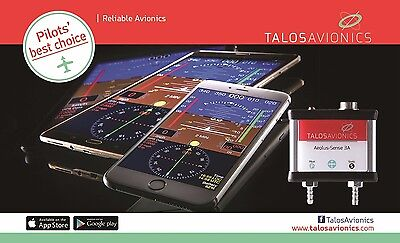 Aeolus Sense unit from Talos Avionics ADAHRS unit for Apple and Android devices