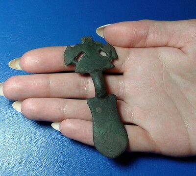Ancient Bronze Fibula. Very Rare !!!