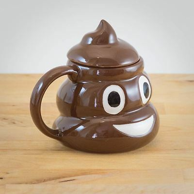 Novelty Emoticon Mug Poo Emoji Shaped Tea Coffee Drinking Cup