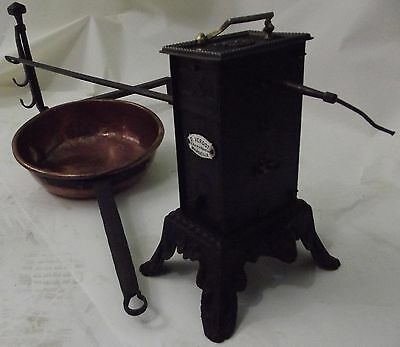 clockwork system rotisserie jack pin roaspit barbecue fireplace copper pan franc