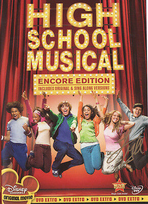 HIGH SCHOOL MUSICAL Autographed DVD by LUCAS GRABEEL! Encore Edition! NEW SIGNED