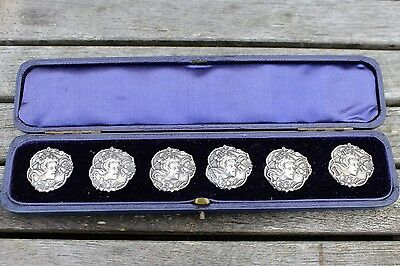 Cased Silver Art Nouveau Buttons