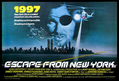 Escape from New York FRIDGE MAGNET 6x8 Magnetic Movie Posters CANVAS Print