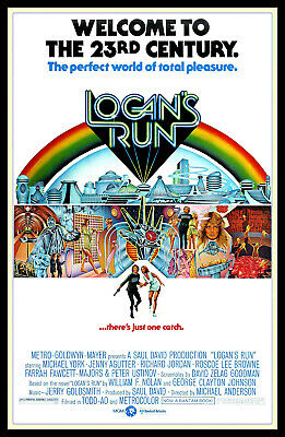 Logans Run FRIDGE MAGNET 6x8 Science Fiction Movie Poster Magnetic Canvas Print