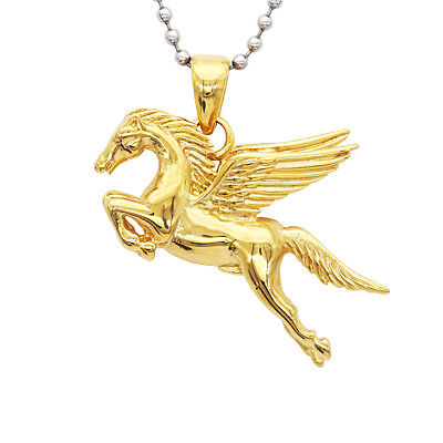 Pegasus Flying Horse Stainless Steel Pendant Necklace for Men Jewelry Gift