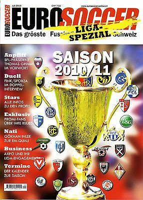 2010 2011 Switzerland EuroSoccer LaLiga Spezial Swiss Football Preview Magazine