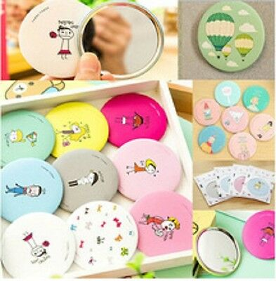 Cosmetic Handbag Compact Cartoon Mirror Cute Pocket Makeup Make Up Travel Trip