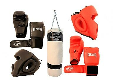 Last Punch Boxing Package New 2 Pairs of Headgears 2 Pairs Pro Boxing Gloves &