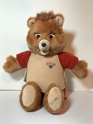 Teddy Ruxpin For Parts 1985 Vintage WOW Worlds of Wonder AS IS Battery Corrosion
