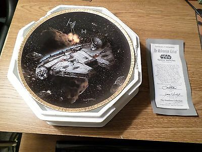 Star Wars Hamilton Collection 12 Plate Set Complete Lot of Space Vehicles W/COA