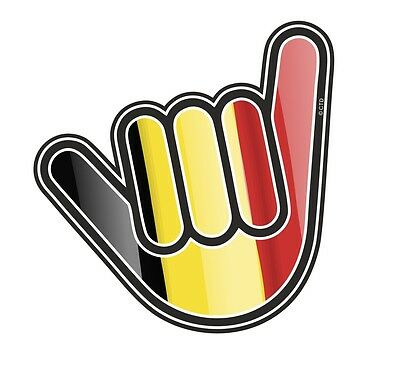 No Worries Hand With Belgium Country Flag vinyl car Truck sticker decal