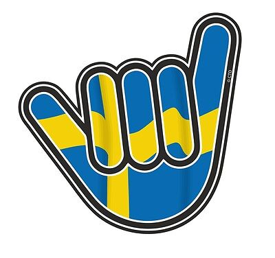 No Worries Hand With Sweeden Sweedish Country Flag vinyl car Truck sticker decal