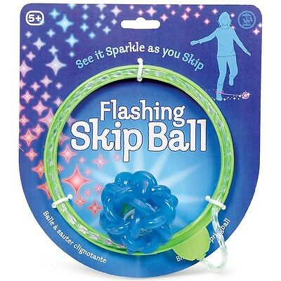 FLASHING SKIP BALL - JUMPING JUMP SKIPPING TOY GAME - Colours Vary
